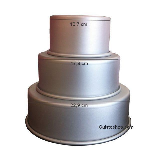 moules cercles caissettes moules rigides toutes les formes lot de 3 moules pi ce mont e. Black Bedroom Furniture Sets. Home Design Ideas