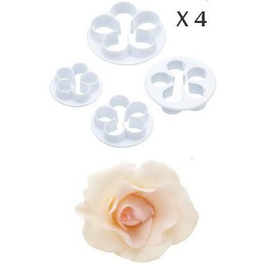 moules cercles caissettes gt moules et c gt lot de 4 emporte pi 232 ces pour p 226 te a sucre rose4pc